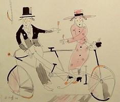 Obraz do salonu artysty Dariusz Grajek pod tytułem Bicyklowy tandem....