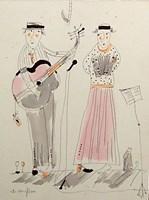 Obraz do salonu artysty Dariusz Grajek pod tytułem Uliczni muzykanci....