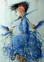 Obraz do salonu artysty Dariusz Grajek pod tytułem Mermaid....