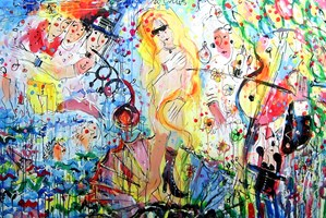 Obraz do salonu artysty Dariusz Grajek pod tytułem Wenus narodziny.....