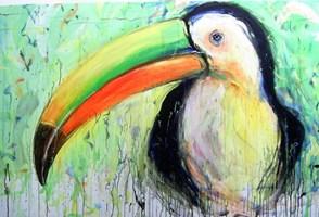 Obraz do salonu artysty Dariusz Grajek pod tytułem Ptak....