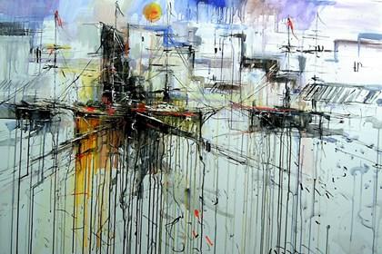 Obraz do salonu artysty Dariusz Grajek pod tytułem Hiszpański port....