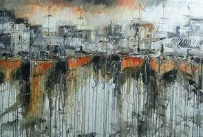 Obraz do salonu artysty Dariusz Grajek pod tytułem Stary port...
