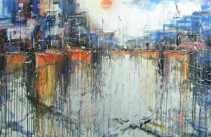 Obraz do salonu artysty Dariusz Grajek pod tytułem Słońce w porcie.....