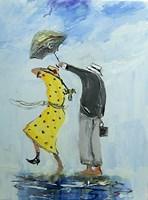 Obraz do salonu artysty Dariusz Grajek pod tytułem Wietrzny spacerek....