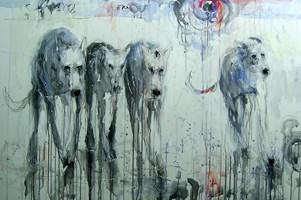 Obraz do salonu artysty Dariusz Grajek pod tytułem Sfora....