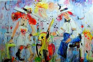 Obraz do salonu artysty Dariusz Grajek pod tytułem Amory i zakochani....