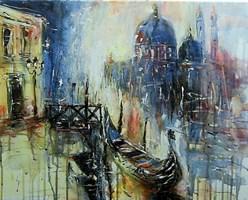 Obraz do salonu artysty Dariusz Grajek pod tytułem Wenecki zaułek...