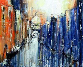 Obraz do salonu artysty Dariusz Grajek pod tytułem Weneckie mosty...