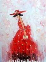 Obraz do salonu artysty Dariusz Grajek pod tytułem Sukienka w grochy....