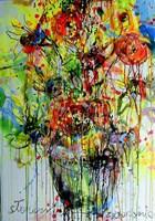 Obraz do salonu artysty Dariusz Grajek pod tytułem The flowers