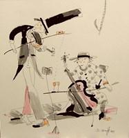 Obraz do salonu artysty Dariusz Grajek pod tytułem Smyczkowe duo....