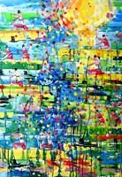 Obraz do salonu artysty Dariusz Grajek pod tytułem Kanadyjkarze....