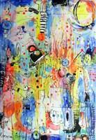 Obraz do salonu artysty Dariusz Grajek pod tytułem Płonąca żyrafa....