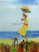 Obraz do salonu artysty Dariusz Grajek pod tytułem Żółta sukienka....