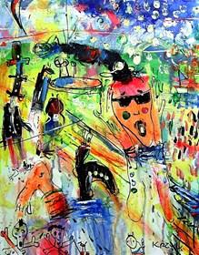 Obraz do salonu artysty Dariusz Grajek pod tytułem Krzyk....