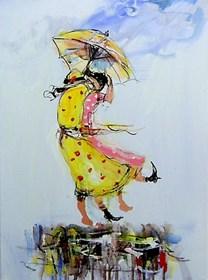 Obraz do salonu artysty Dariusz Grajek pod tytułem Podmuch....