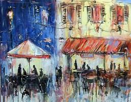 Obraz do salonu artysty Dariusz Grajek pod tytułem Kawiarenka w Sienie....