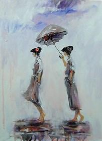 Obraz do salonu artysty Dariusz Grajek pod tytułem Na spacerze....