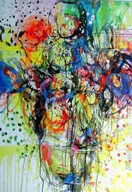 Obraz do salonu artysty Dariusz Grajek pod tytułem Bukiet kwiatów....