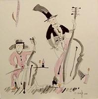 Obraz do salonu artysty Dariusz Grajek pod tytułem Basista i wiolonczelistka...