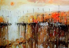 Obraz do salonu artysty Dariusz Grajek pod tytułem Słoneczny port....