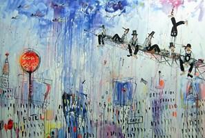 Obraz do salonu artysty Dariusz Grajek pod tytułem Manhattan....