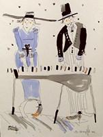Obraz do salonu artysty Dariusz Grajek pod tytułem Pianinowe duo...