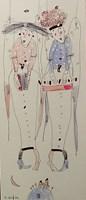 Obraz do salonu artysty Dariusz Grajek pod tytułem Dwie anielice....