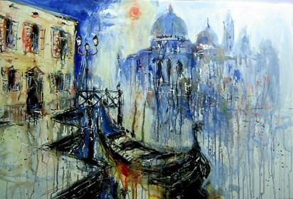Obraz do salonu artysty Dariusz Grajek pod tytułem Gondola....