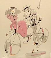 Obraz do salonu artysty Dariusz Grajek pod tytułem Muzyczny bicykl...