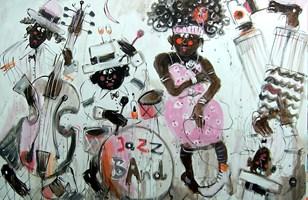 Obraz do salonu artysty Dariusz Grajek pod tytułem New Orlean jazz.....