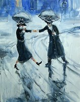 Obraz do salonu artysty Dariusz Grajek pod tytułem Deszczowy poranek...