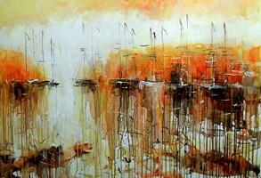 Obraz do salonu artysty Dariusz Grajek pod tytułem Nostalgiczna zatoka...