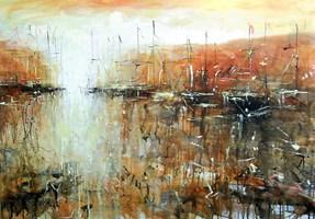 Obraz do salonu artysty Dariusz Grajek pod tytułem Cicha zatoczka....