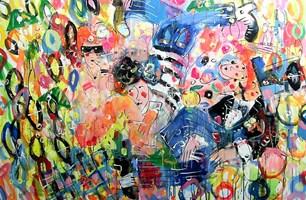 Obraz do salonu artysty Dariusz Grajek pod tytułem Imprezowicze....