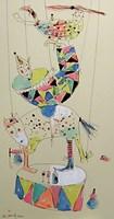Obraz do salonu artysty Dariusz Grajek pod tytułem Cyrk.....