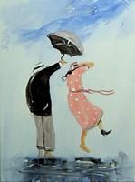 Obraz do salonu artysty Dariusz Grajek pod tytułem Sukienka w groszki i pan.....