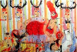 Obraz do salonu artysty Dariusz Grajek pod tytułem Totemy....