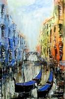 Obraz do salonu artysty Dariusz Grajek pod tytułem Dwie Weneckie gondole...