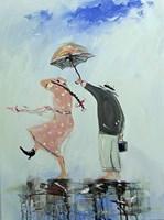 Obraz do salonu artysty Dariusz Grajek pod tytułem Deszczowy spacerek...