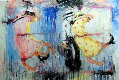 Obraz do salonu artysty Dariusz Grajek pod tytułem Rozkoszne podmuchy....