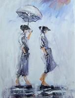 Obraz do salonu artysty Dariusz Grajek pod tytułem Ona i on...