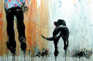 Obraz do salonu artysty Dariusz Grajek pod tytułem Przyjaciele....