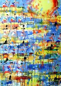 Obraz do salonu artysty Dariusz Grajek pod tytułem Wioślarze w słońcu.....