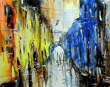 Obraz do salonu artysty Dariusz Grajek pod tytułem Weneckie zaułki....