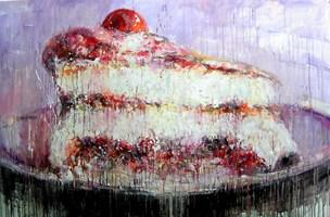 Obraz do salonu artysty Dariusz Grajek pod tytułem Wisienka na torcie...