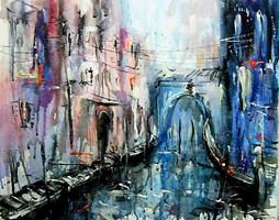 Obraz do salonu artysty Dariusz Grajek pod tytułem Wenecki poranek....