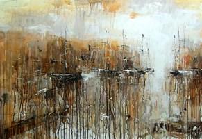 Obraz do salonu artysty Dariusz Grajek pod tytułem Mały port....