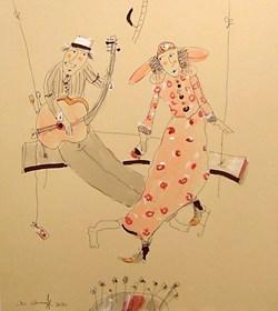 Grafika do salonu artysty Dariusz Grajek pod tytułem Miłosna huśtawka...